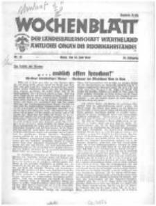 Wochenblatt der Landesbauernschaft Wartheland: amtliches Organ des Reichsnährstandes. 1941.06.28 Jg.39 nr26