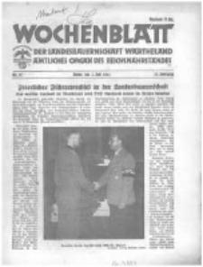 Wochenblatt der Landesbauernschaft Wartheland: amtliches Organ des Reichsnährstandes. 1941.07.05 Jg.39 nr27