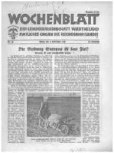 Wochenblatt der Landesbauernschaft Wartheland: amtliches Organ des Reichsnährstandes. 1941.09.06 Jg.39 nr36