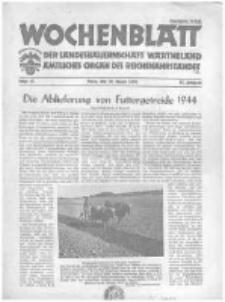 Wochenblatt der Landesbauernschaft Wartheland: amtliches Organ des Reichsnährstandes. 1944.08.26 Jg.42 nr35